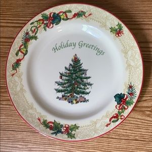 Spode Christmas Tree Plate.. Holiday Greeting
